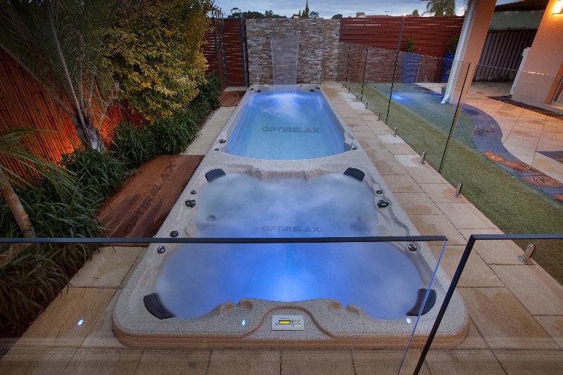 Swim spa einbau swim spa pool einbauen for Schwimmbad zum aufstellen