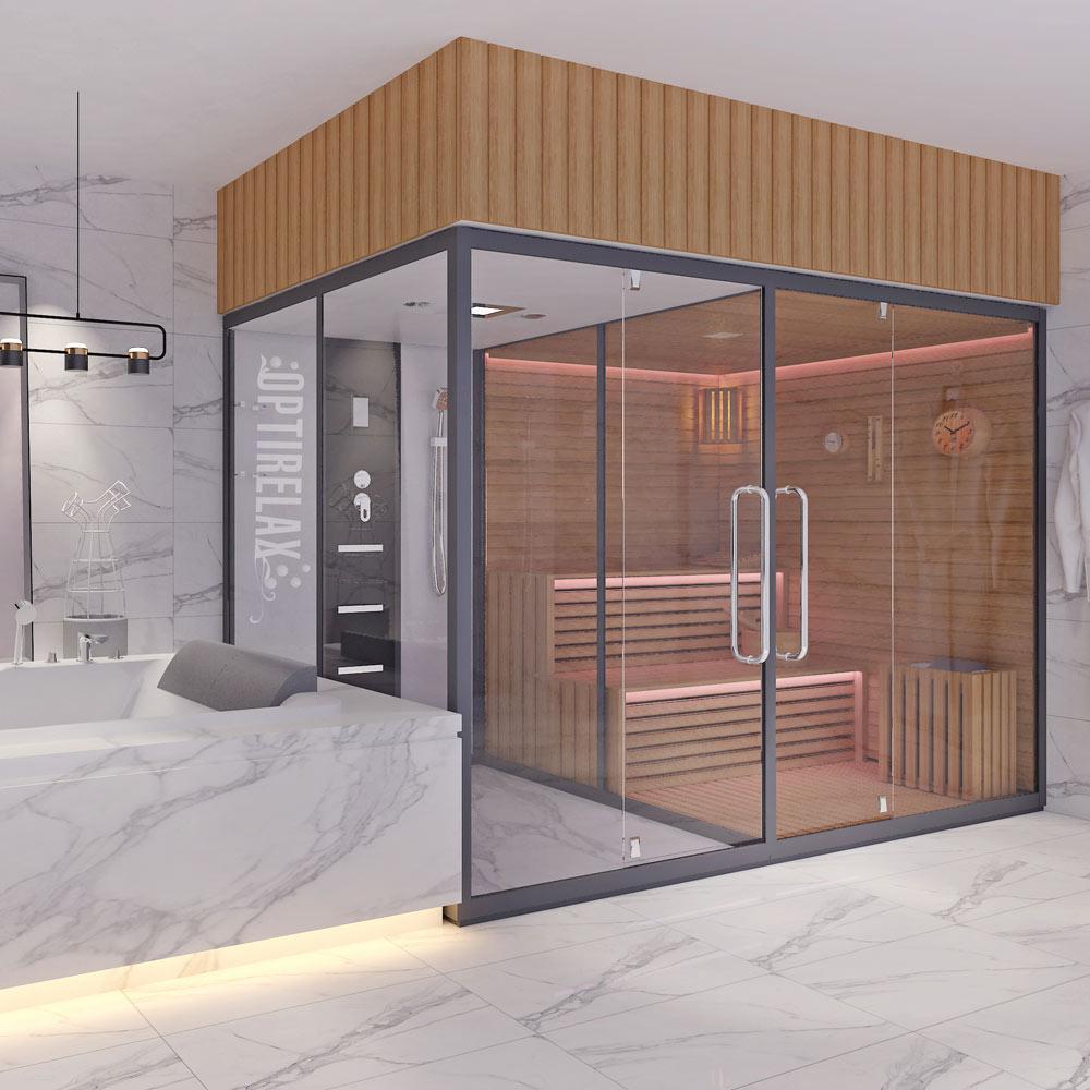 Saunadusche - Dusche und Sauna im Badezimmer