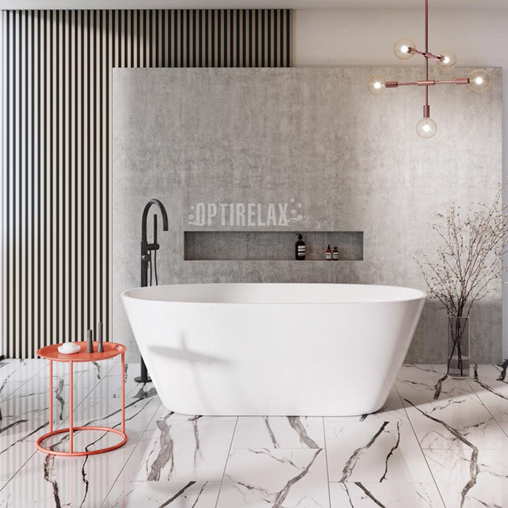 Freisthende Badewanne aus Mineralguss NDO