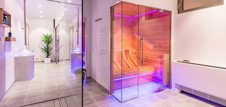 Infrarotkabine  - Badezimmer mit Infrarotsaua zum Liegen