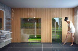 Luxus Sauna Kombination Dream II
