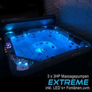 Whirlpool Optirelax VIII Extreme inklusive LEDs, Fontänen, uvm