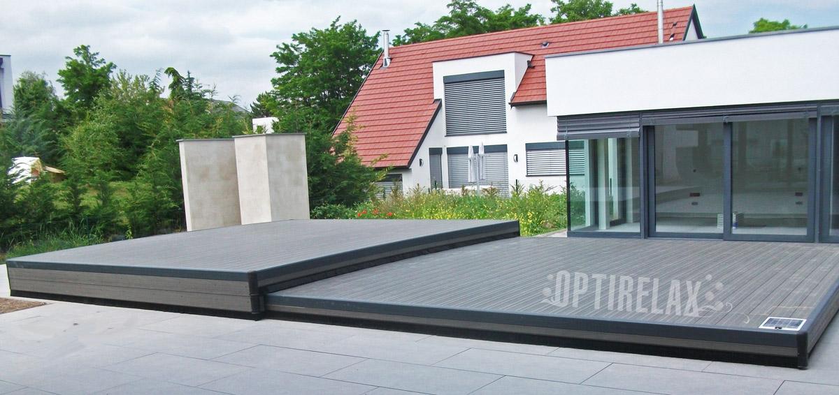 Poolabdeckung als fahrbare Terrasse - Terrassen Pooldeck