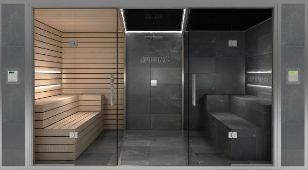 sauna und dusche in einem optirelax blog. Black Bedroom Furniture Sets. Home Design Ideas