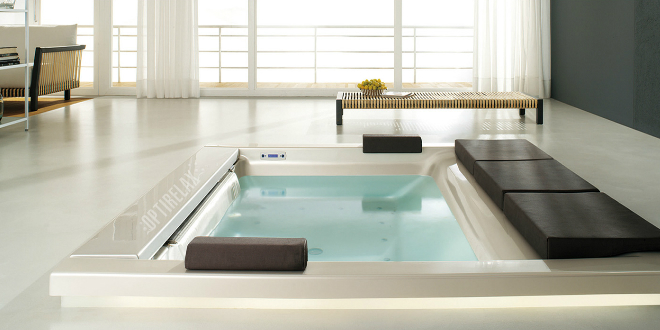 Spa wellness blumen for Whirlpool einlage