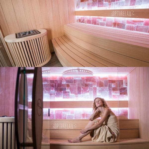 Premium Sauna Round I in verschiedenen Ausfuehrungen erhaeltlich