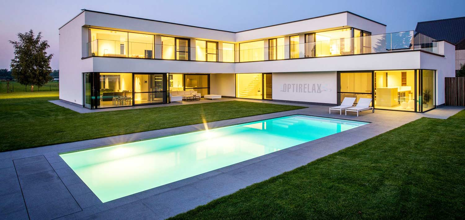 OPTIRELAX-Swimmingpool-bauen - Luxus Haus mit Pool ...
