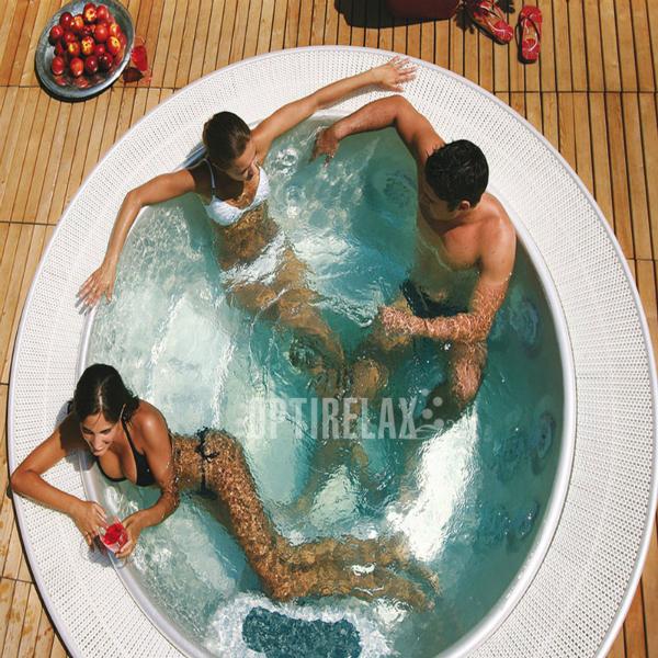 Runder Luxus Whirlpool mit Ueberlauf TC-M238