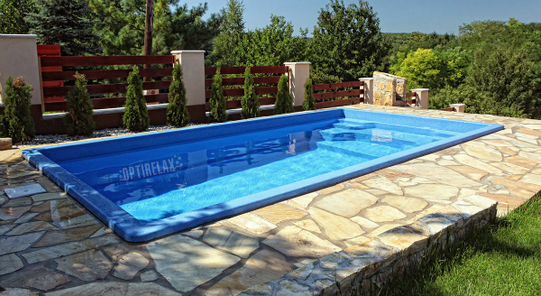 GFK-Keramik Pool AQ-55 fuer Terrasse