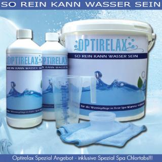 Wasserpflegepaket Aqua Kristall Spezial fuer Whirlpools auf Mineralbasis