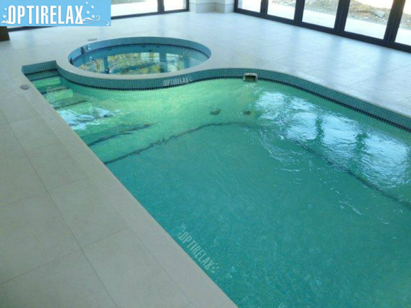 Indoor Pool Luxus Spapool mit Whirlpool Optirelax LUX Q2