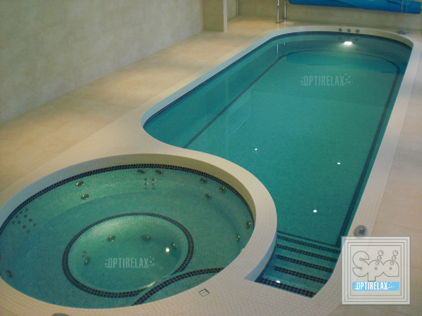 Indoor Pool Luxus Swim Spa Pool Optirelax LUX F2