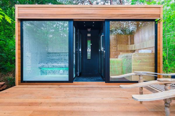 das saunahaus im garten optirelax blog. Black Bedroom Furniture Sets. Home Design Ideas