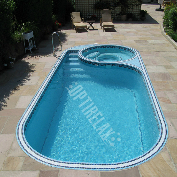 Luxus Pool LUX F2 Swim Spa von Optirelax