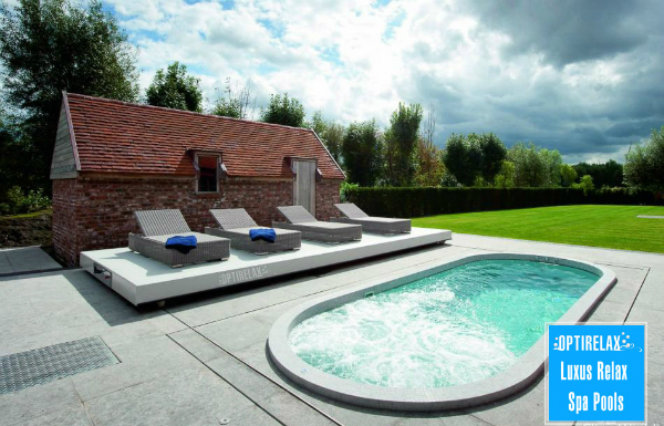 Luxus Pool LUX IND individueller Spa Pool von Optirelax