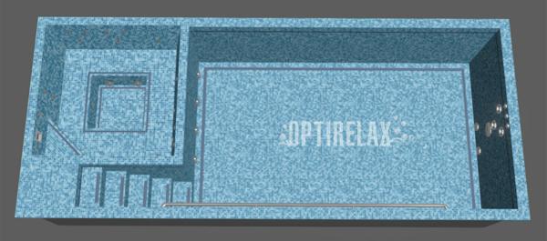 Luxus Pool LUX Q2 Spa Pool von Optirelax