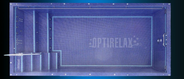 Luxus Pool LUX QLX3 Swimming Spa Pool von Optirelax