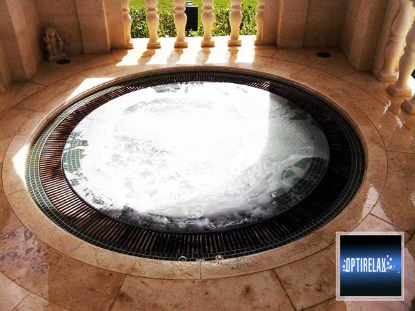 Luxus Pool LUX RUE-XL Ueberlauf Spa Whirlpool von Optirelax