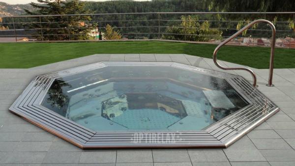 Luxus Pool Steelrelax ER1 Spa Edelstahl Whirlpool