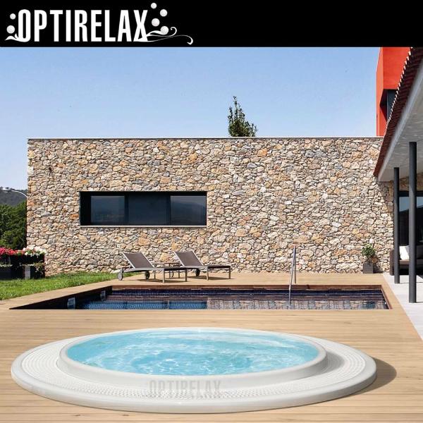 Luxus Pool TC-R250 Whirlpool mit Ueberlaufrinne