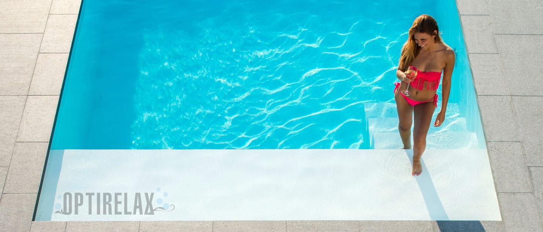 Pool im Garten - Gartenpool mit Treppe und Flachwasserzone