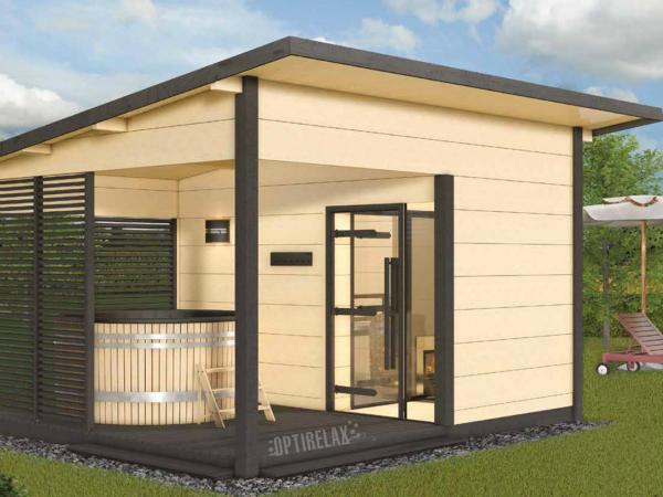 Outdoor Sauna-Whirlpool-Haus HS2