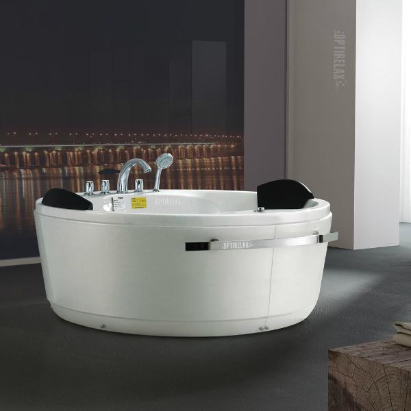 Whirlpoolbadewanne Optirelax-Relaxmaker Rondo fuer zwei Personen