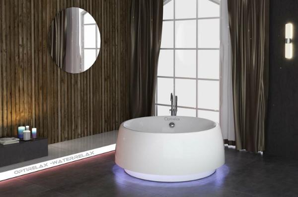 Acryl-Badewanne Waterrelax Free Illuminato Rondo