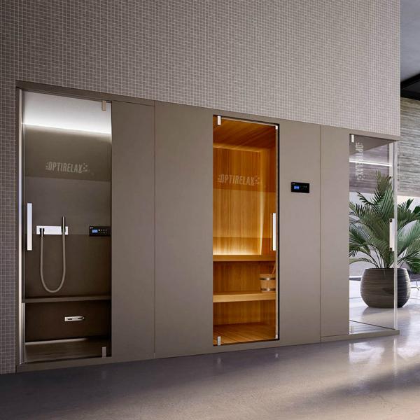 dampfdusche mit sauna opx g relaxdream v3 optirelax blog. Black Bedroom Furniture Sets. Home Design Ideas