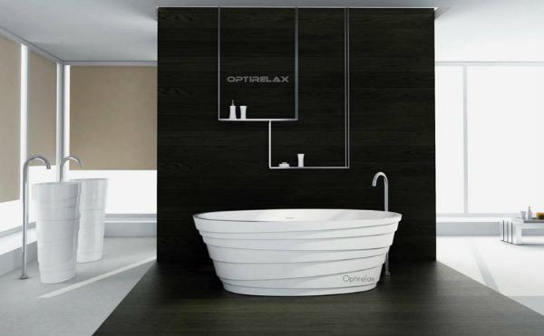 Mineralguss-Badewanne Waterrelax Florenz