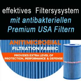 Filtersystem beim Whirlpool VIII Extreme von Optirelax