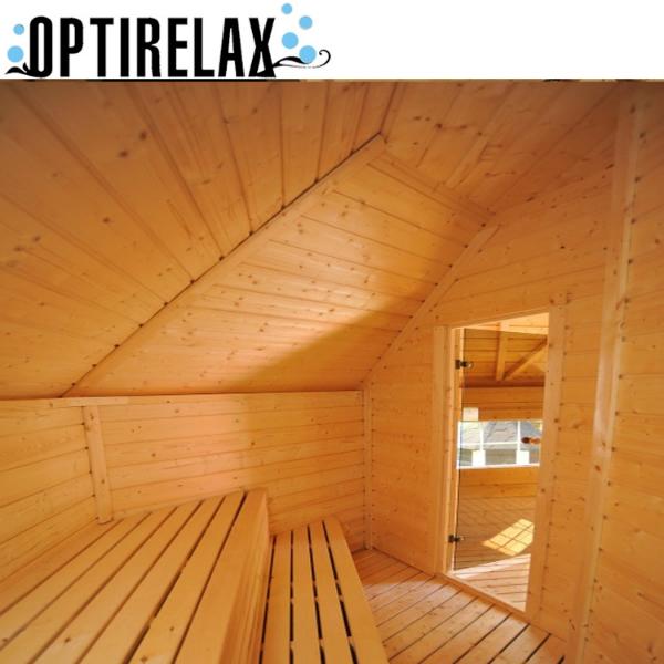 Grill und Sauna Kota Huette K16 Innenraum