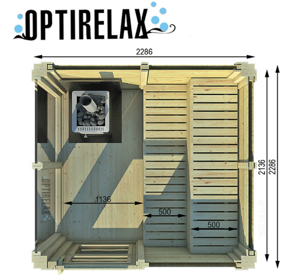 Gartensauna Optirelax Piazza 1