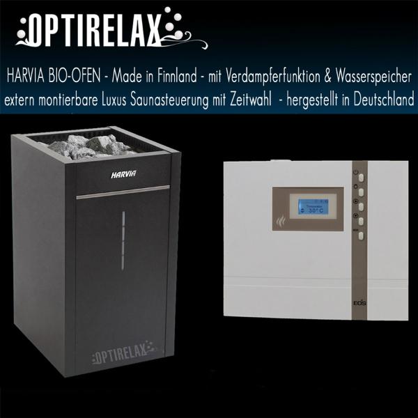 Harvia Bio-Ofen und Luxus Saunasteuerung mit Zeitwahl