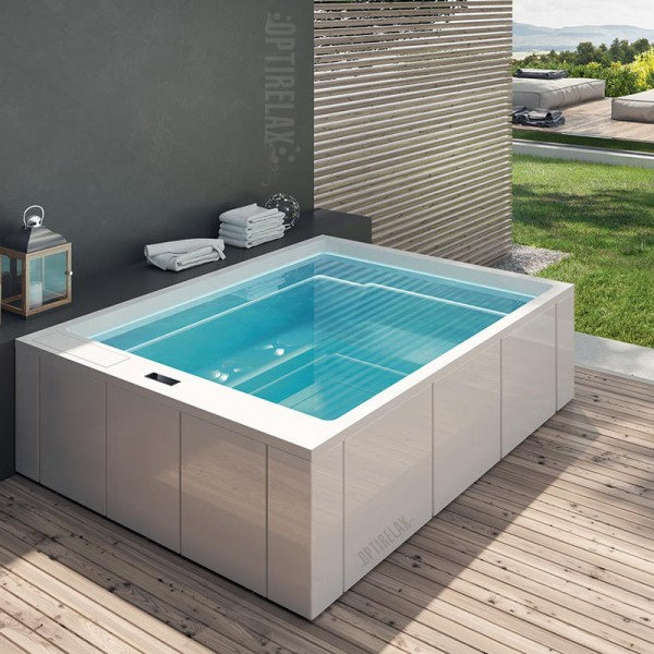luxus design whirlpool auf dem balkon gt spa me280 optirelax blog. Black Bedroom Furniture Sets. Home Design Ideas
