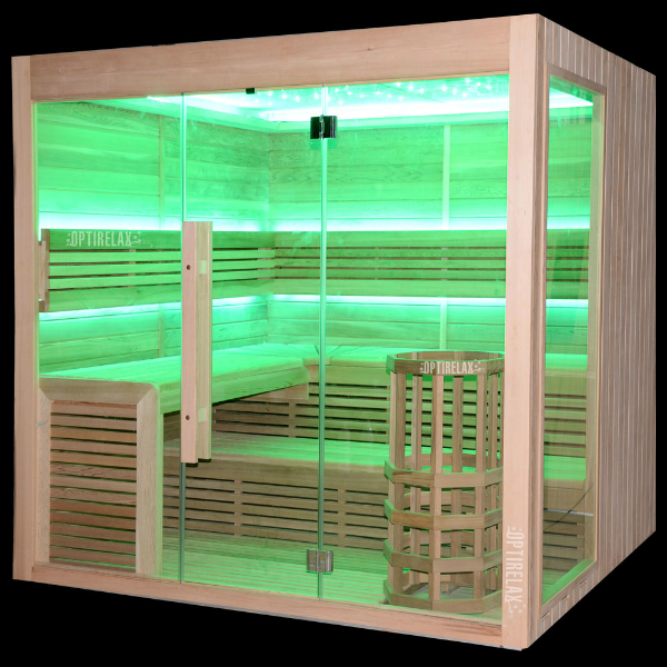 sauna mit glasfront biorelax muenchen optirelax blog. Black Bedroom Furniture Sets. Home Design Ideas