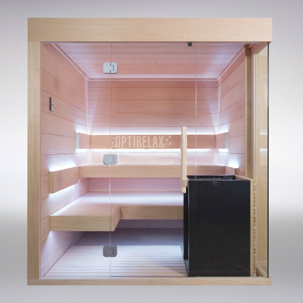 sauna mit glasfront clear i optirelax blog. Black Bedroom Furniture Sets. Home Design Ideas