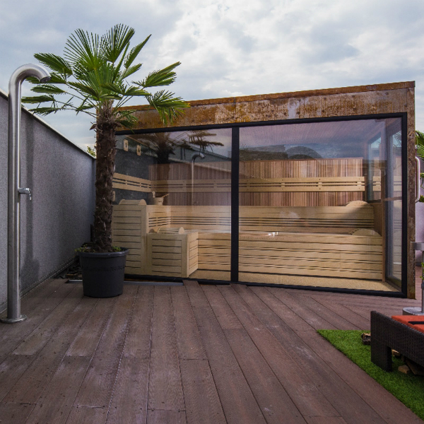 Sauna mit Glasfront - Optirelax Blog