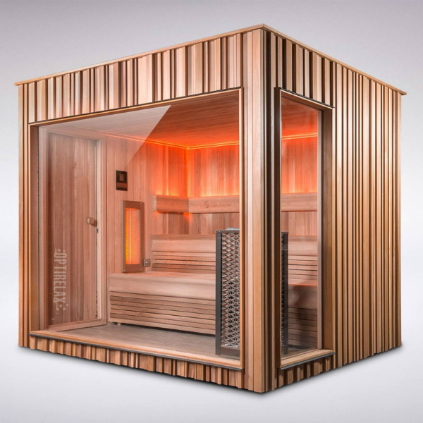 Sauna mit Glasfront - OPTIRELAX® Blog