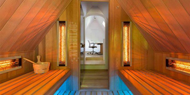 sauna unter der dachschr ge optirelax blog. Black Bedroom Furniture Sets. Home Design Ideas
