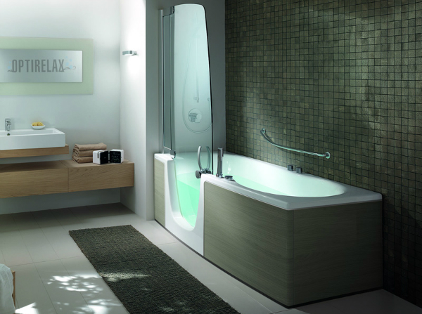 eckbadewanne mit dusche optirelax blog. Black Bedroom Furniture Sets. Home Design Ideas