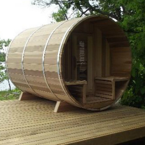 Luxus Fass Sauna Optiview II
