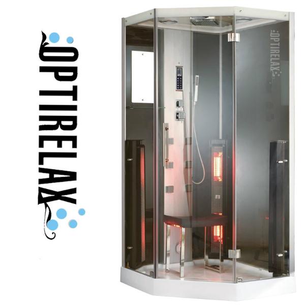 Dampfdusche mit Infrarot Infrablack EE100 von Optirelax