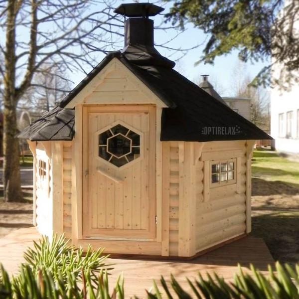 Mini Kota-Grill-Sauna Hütte K4