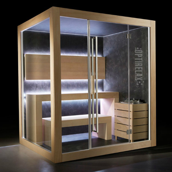 Premium Sauna OPX-CM Dream M inklusive Soundsystem mit MP3 und FM-Radiosystem