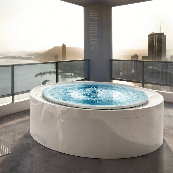 Runde Outdoor Spa-Whirlpoolwanne GT-F200-OD