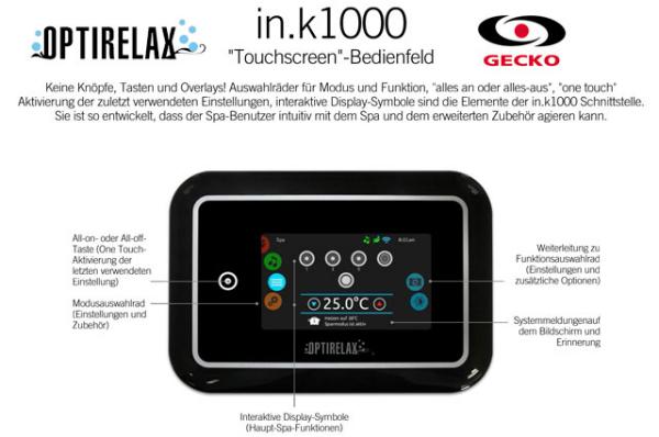 Gecko Whirlpool Steuerung in.k1000 mit Touchscreen