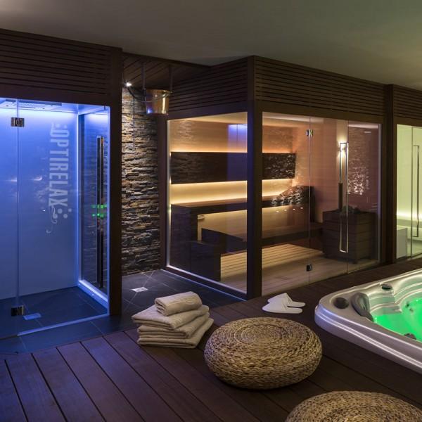 Wellness-Sauna-Anlage nach Mass CM-IND-Lux