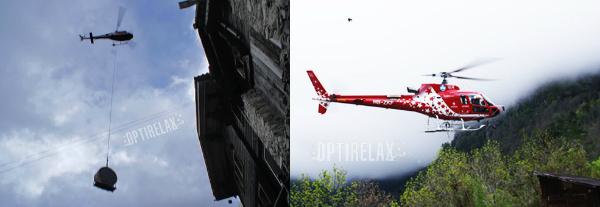Whirlpool Lieferung mit einem Hubschrauber