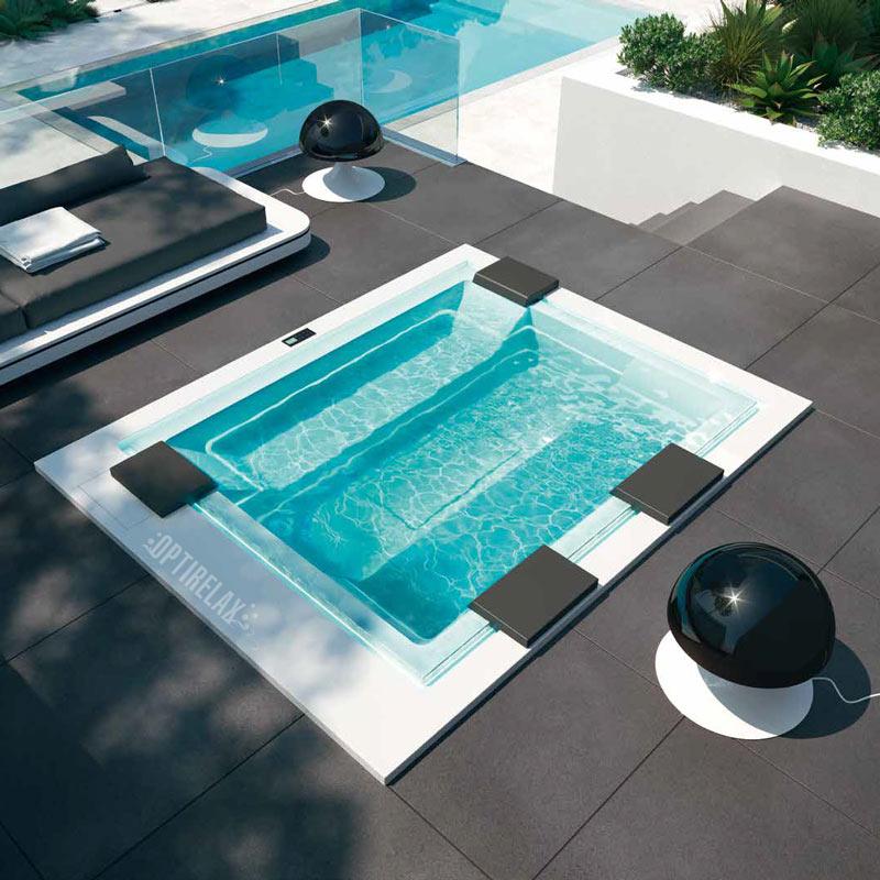 Infinity Whirlpool für die Terrasse zum einbauen - Whirlpool mit Überlauf